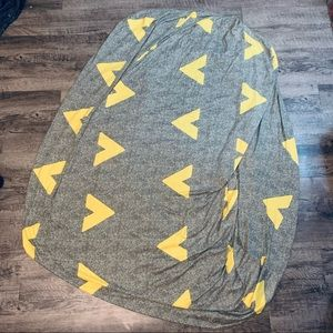 NWOT Soft Sofa Cover Gray & Yellow Poly /Spanx